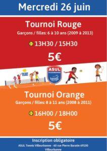 tournoi rouge et orange